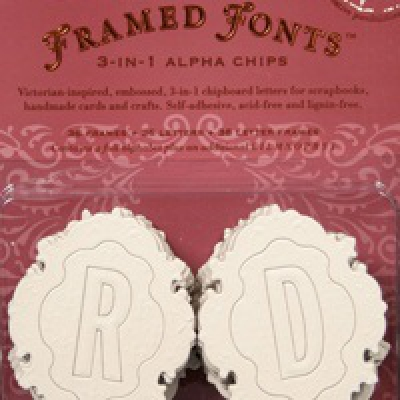 Chipboard stafir (Framed Fonts) image