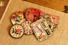 Romance Novel Decorative Wood Clocks and Tickets image