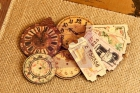 Tea Thyme Decorative Wood Clocks and Tickets image